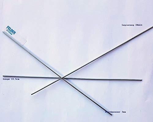 PROFILOT - Aluminium Alulöten Reparatur Lot Alu Löten Alulot Löten Reibelot 3mm Stärke - 1000mm Länge - Lötzinn ZnAL4 von Felder®