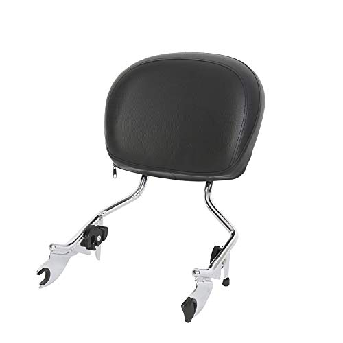 Detachable Sissy Bar with Backrest Pad Chrome for Harley Touring 09-Up 16 17 18 19 20(NEED DOCKING HARDWARE)