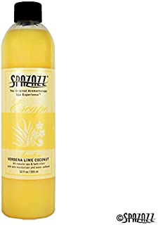 Spazazz SPZ-125 Escape Aromatherapy Elixir Bottle, 12-Ounce, Verbena Lime Coconut Awaken