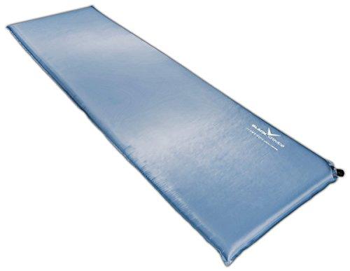 Black Crevice selbstaufblasbare Luftmatratze, Mittelblau, 3 cm