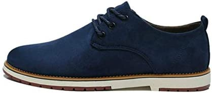 Jiangym Sports Accessories Suede Leather Men Shoes Oxford Casual Classic Sneakers for Male Footwear, Size:44(Black) Sports Accessories (Color : Blue, Size : 41)