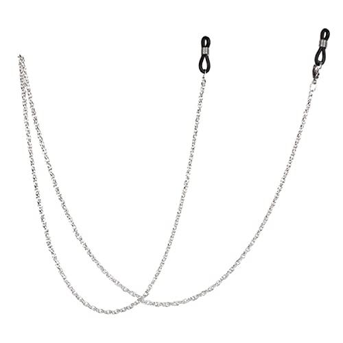 1 Uds, Soporte de cadena para gafas Vintage, mujeres, hombres, moda, gafas de sol negras, cordón para el cuello, retenedor, correa, gafas, soporte para gafas-60cm