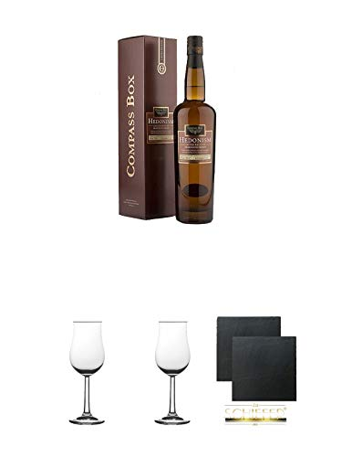 Hedonism Compass Box Grain Whisky 0,7 Liter + Gläsergeschenkset
