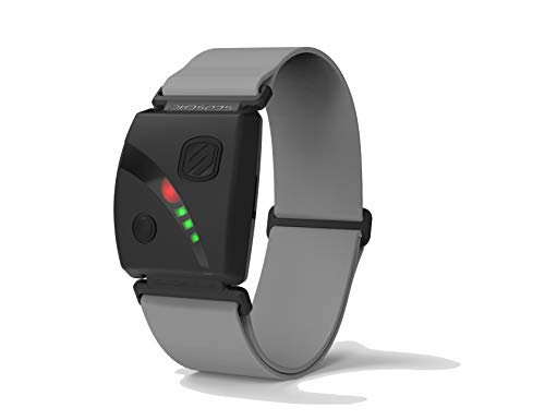 Scosche Rhythm24 - Waterproof Armband Heart Rate Monitor HRM Optical with Dual Band ANT+ and BLE Bluetooth Smart - Gray