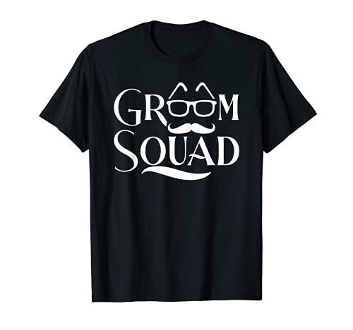 Escuadrón Novio Divertido Abarcaador Camiseta
