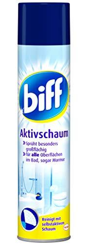 Biff Aktivschaum Badreiniger (für alle Oberflächen) 2er Pack (2 x 600 ml)