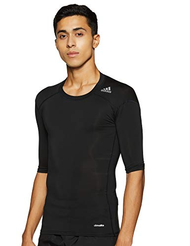 adidas Herren Training Techfit Base T-Shirt, Black, L