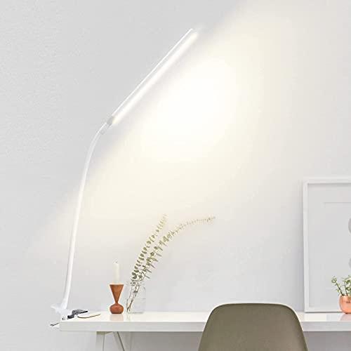 クリップライトled デスクライト 電気スタンド 無段階調光 3段階調色 10W 目に優しい卓上ライト 360°角度調整可能アームライト 明るい 省エネ 記憶機能 ブックライト 読書灯クリップ USB