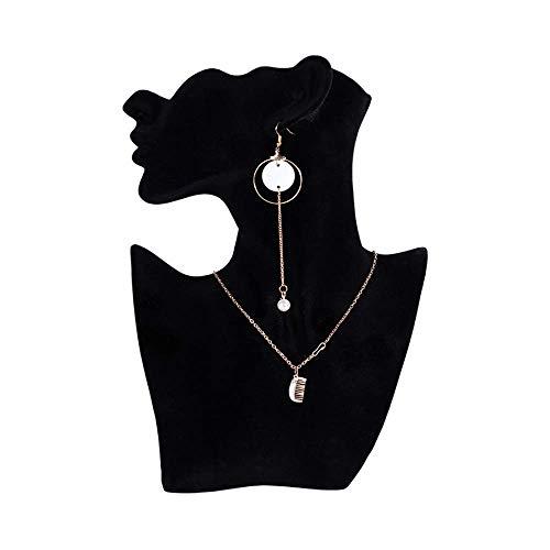 Storage Rack, Porträt Modell Halskette Rack-Ohrring-hängende Display Rack Requisiten Anzeige for Mädchen Anzeige überall (Farbe: Schwarz, Größe: Eine Größe) 8bayfa ( Color : Black , Size : One Size )