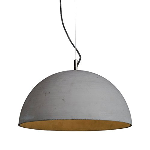 Betonnen hanglamp Liva lichtgrijs Ø 46cm