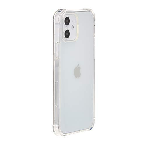 Amazon Basics – Funda para iPhone 12 y iPhone 12 Pro con protección antigérmenes, TPU (poliuretano termoplástico), transparente
