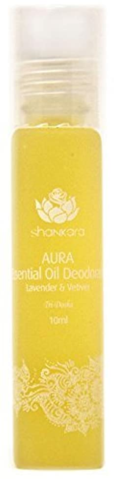Shankara Aura Essential Oil Deodorant - All Natural Deodorant - Vegan, Anti-Bacterial, Odor-Fighting Deodorant for Men & Women - Alcohol, Paraben & Aluminum Free Deodorant - Lavender & Vetiver - 10 ml