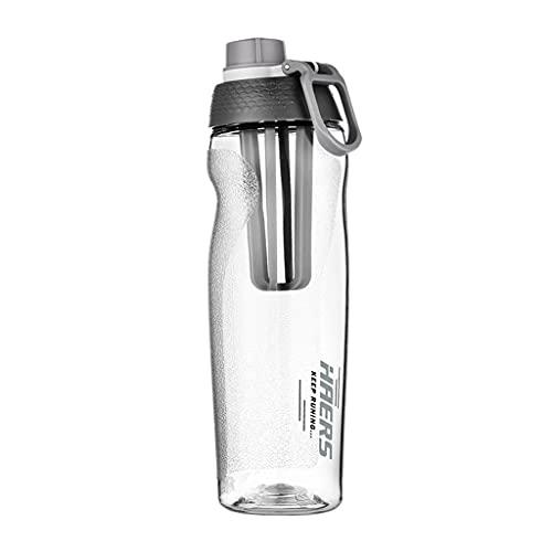 DWQ Botella de Agua Transparente al Aire Libre de Gran Capacidad para Hombres/Mujeres, Botellas de Consumo de plástico Resistentes a la caída con asa, 700ml / 23oz (Color : Clear, tamaño : 700ml)
