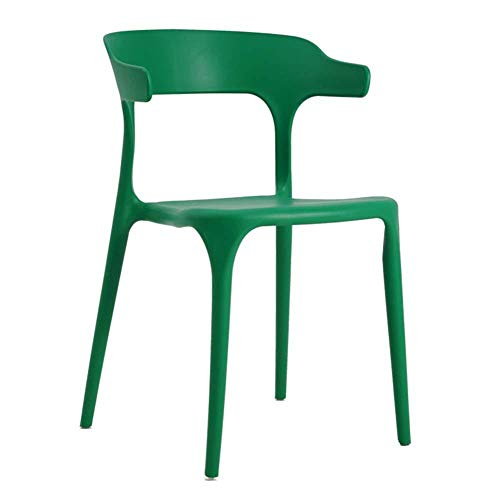 ZCXBHD ontbijtstoel bureaustoel/ontbijtkruk rugleuning/PP-kunststof voor woonkamer/bureau/terras/kantoor/keuken (optionele kleur), F