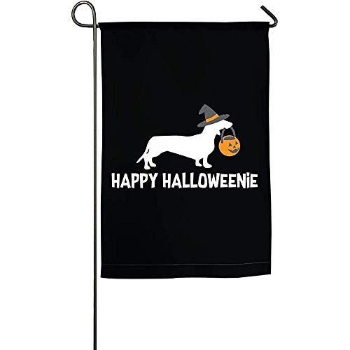 Not Applicable Outdoor Garden Flag,Dackel Halloween 2017 Premium Hausgarten Banner Zur Begrüßungsdekoration 45.7X32CM
