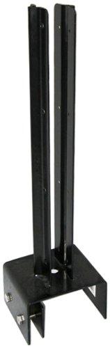 ガーデンガーデン ラティスや木製フェンスなどに 12cm幅専用ブロック固定金具 連結用 [35mm枠対応] ネジ付 ブラック BF-4512J