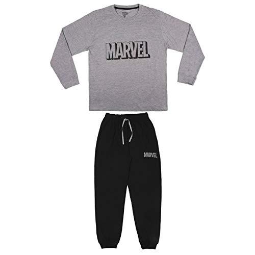 CERDÁ LIFE'S LITTLE MOMENTS Hombre Pijama Comics-Licencia Oficial Marvel, Gris, M