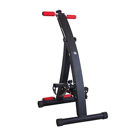 XBSLJ Mini Exercise Bike Pedal Exerciser Medical Peddler for Leg Arm and Knee Recovery Exercise with Massage Roller,Foldable Portable Bike Pedaler, Fitness Rehab Equipment for Seniors, Elderly, PT