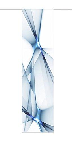 Home Fashion Franklin Schiebevorhang, Polyester, Blau, 245X60 cm