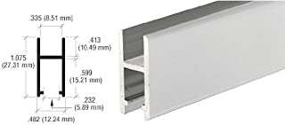 CRL Satin Anodized Aluminum H-Bar Extrusion for Showcases - 12 ft long [Misc.]