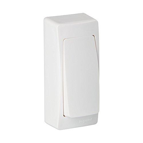 Legrand LEG97341 Interruptor conmutador superficie, 2300 W, 230 V, 10 A, Blanco