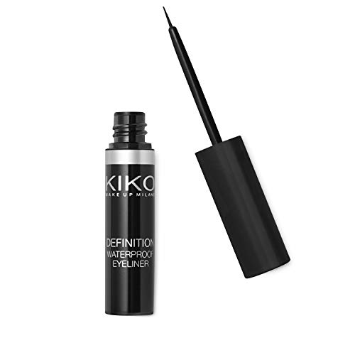 KIKO MILANO - Definition Waterproof Eyeliner - Long Lasting Liquid Eyeliner Black | Water Resistant | Hypoallergenic Eyeliner | Professional Cruelty Free Makeup | Made in Italy
