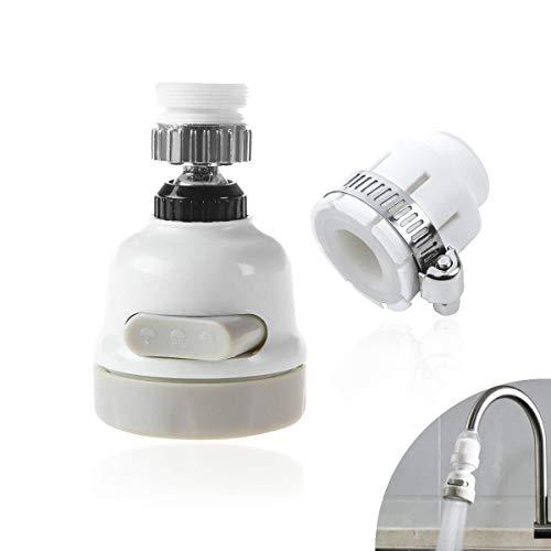GlobalDream 2 in 1 Wasserhahn-Sprühkopf-Hahn mit universellem Duschkonverter, 360 Grad drehbarer ABS-beweglicher Küchen-Hahn-Kopf, Spritzfilter-Düse, 3 Modi-Justage