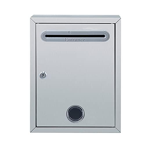 ZHPBHD Sugerencia pequeña Sugerencia Buzón de Acero Inoxidable Sugerencia Sugerencia Box Street Mailbox para Empresa, Hardware de mejoras para el hogar