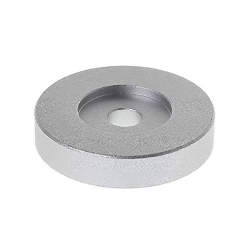 siwetg Adaptador De Tocadiscos Récord 45 RPM Aluminio Plata