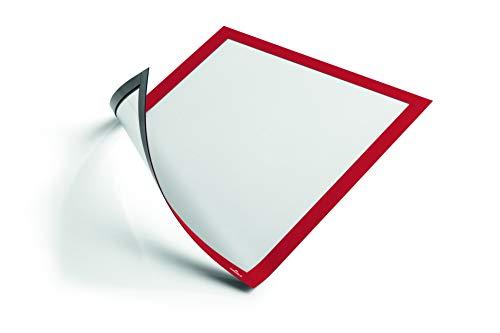 Durable 486903 Info-Rahmen Duraframe Magnetic (A4 Magnetrahmen für metallische Oberflächen) 5 Stück rot