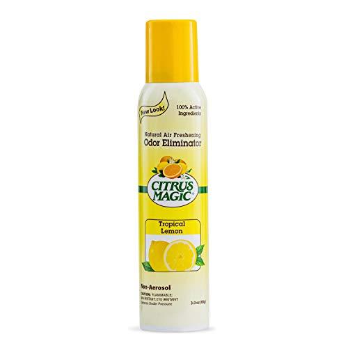 Citrus Magic Natural Odor Eliminating Air Freshener Spray, Tropical Lemon, 3-Ounce