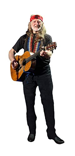 WILLIE NELSON COUNTRY SINGER LIFESIZE CARDBOARD STANDUP STANDEE CUTOUT POSTER