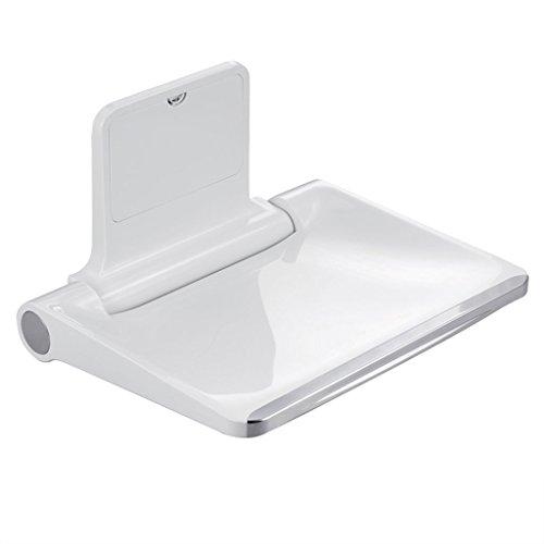 Yxsd Faltbarer Badstuhl Wand-Duschhocker, rechteckiger Sitz mit Rückenlehne, schwere Badewanne für Senioren, Behinderte, Schwangere