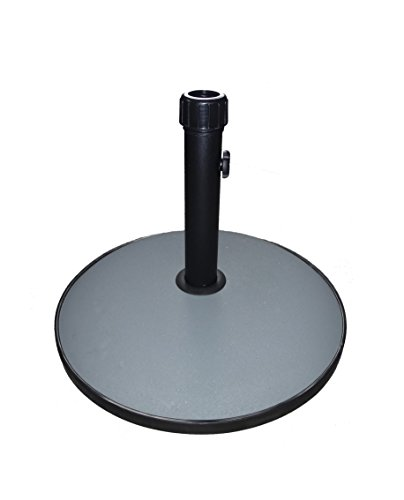 Charles Bentley 15Kg Round Concrete Parasol Base Umbrella Stand In Grey