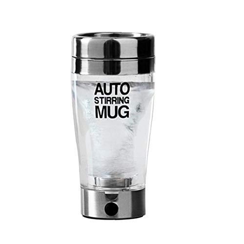 Kacniohen Proteine ??Elettrico Shaker Bottiglia, succhi di Frutta Automatico Pigro Elettrico mescola la Tazza Intelligente in Acciaio Inox Mix Cup Bicchieri 400ML