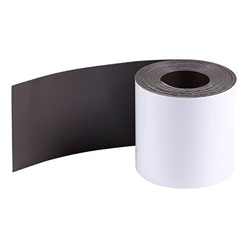 Magnetstreifen zum Beschriften von Juvale–Magnet-Etiketten/Magnetschilder, Wiederbeschreibbar, Trocken Abwischbar - Für Kühlschrank, Werkstatt, Whiteboard, Lager - Weiß, 5 cm x 3 m