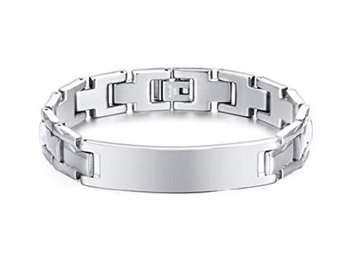 Blisfille Pulsera de Hombre Hilo Pulsera de Forma de la Correa de Reloj Joyería Pulsera de Plata de Mujer&Plata