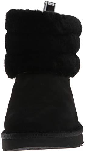 [アグ] クラシックブーツ Fluff Mini Quilted レディース BLACK 24.0 cm