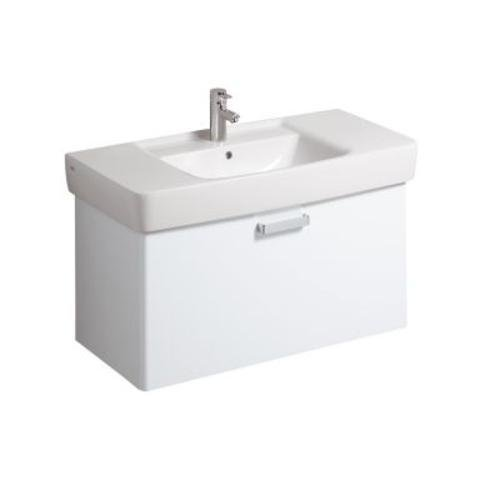 Keramag Waschbeckenunterschrank Renova Nr.1 Plan, 879110 93x44,5cm x46,3cm Weiß Hochglanz 879110000