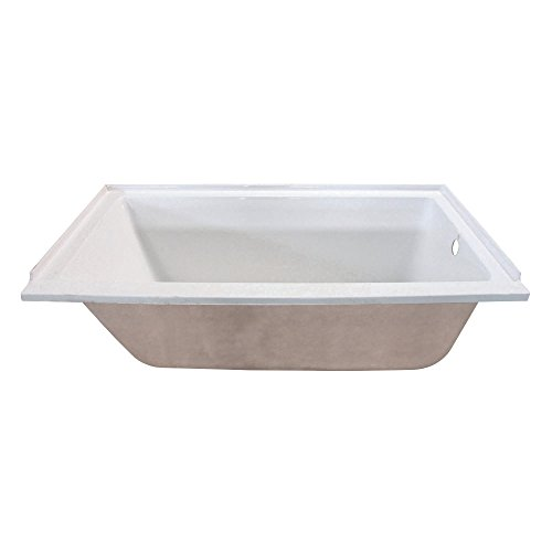 Kingston Brass VTPN603020R 60-Inch Acrylic Drop-In Tub with Right Hand Drain, 60