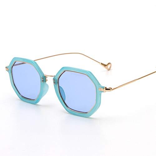 YTYASO Gafas De Sol Redondas para Mujer Gafas De Sol De Metal para Mujer Gafas De Sol Pequeñas Espejo Oculos De Sol