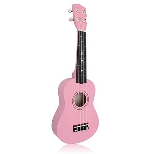Lichtgewicht 12 Frets 21 Inch gitaar Basswood Soprano Ukulele Hawaiiaanse gitaar roze