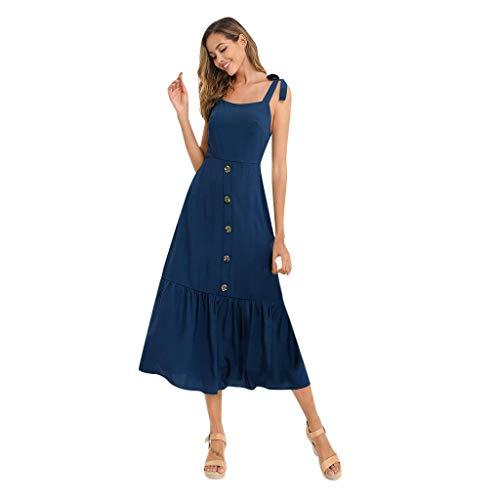 Vestidos Largos De Fiesta Mujer,Vestidos Mujer Verano,Vestido Estampado De Bolsillo Sin Mangas con Bolsillo para Mujer