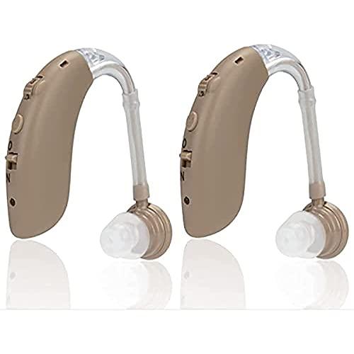 GXLO Audífonos, Amplificador auditivo Recargable para Personas Mayores con Control de Volumen, cancelación de Ruido Dispositivos de Asistencia auditiva Digital para el oído Un par