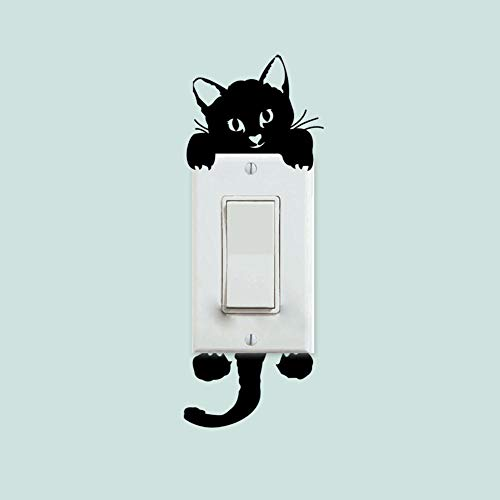 Cooldearydm Goedkope Leuke Kat Licht Schakelaar Sticker Boot