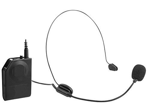 Trevi EM 408 R Set di Microfoni Wireless ad Archetto e a Clip con Ricevitore Wireless senza Fili
