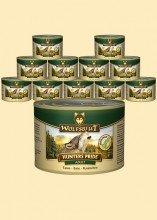 Warnicks - Servizio di mangime per animali con 57% di carne selvatica come fagiano, anatra, coniglio, bufalo (12 x 200 g)