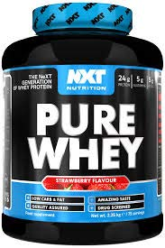 NXT Nutrition Pure Whey 2.25kg Strawberry
