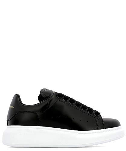 Luxury Fashion | Alexander Mcqueen Dames 553770WHGP01000 Zwart Leer Sneakers | Seizoen Permanent