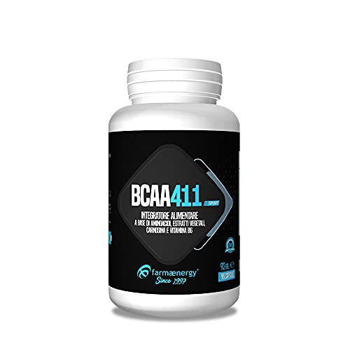 BCAA 4:1:1 Repair - 192 capsule - integratore di aminoacidi ramificati di grado farmaceutico Kyowa in compresse, arricchito con Carnosina ed estratto di Ashwaganda